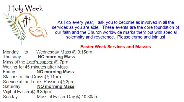 Services Easter 2017